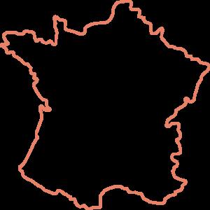 Landkarte Umrisse Frankreich