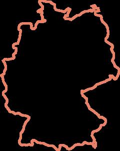 Deutschland Landkarte Umrisse